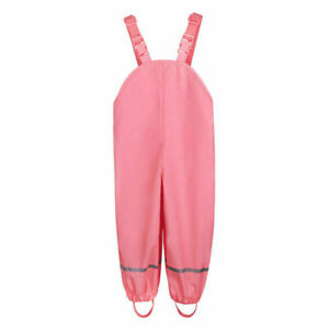 Children Kids Rain-proof Pants Ourdoor Waterproof Trousers Solid Boys Girls Cute