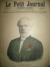 ACADEMIE FRANCAISE M. DE FREYCINET MINISTRE DE LA GUERRE LE PETIT JOURNAL 1891