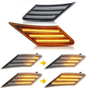 2x Smoked LED Side Marker Turn Signal Lights For Subaru BRZ Scion FRS 86 Toyota