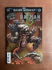 Dark Nights: Batman The Devastator #1 (2018) 9.4 NM DC Foil Cover Metal Tie In