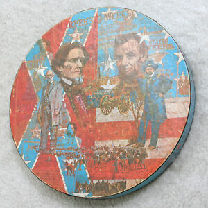 """Springbok Circular Jigsaw Puzzle American Civil War Vintage 20 3/8"""" 500 Pieces"""