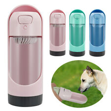 Portable Dog Water Bottle Pet Travel Water Dispenser Outdoor Drink Bowl Feeder