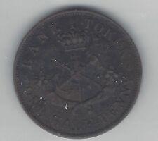 **1852**Half Penny Bank Token, Coin Mart Graded**AU-50**