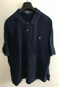 Polo Ralph Lauren Polo Shirt Mens 2XL/3XB Navy Blue Classic Fit Pique Big Size