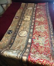 ANTIQUE 19th c QI'ING CHINESE EMBROIDERED BANNER FINE EMBROIDERY 300 cm L!