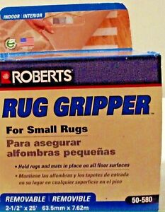 """Roberts Traction Non-Slip Rug Strip, 25 Ft 2-1/2"""" x 25 ft.   50-580 50-580"""