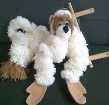 "puppet/marionette, MONKEY, anti-tangle design.18 "" H, made from pompoms. boxed"