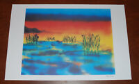 Jerry Garcia Fine Art Print Wetlands I Lithograph Poster #776/1000 Grateful Dead