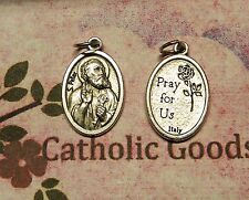 Saint St. Peter - Pray for Us on back - Oxidized Die Cast Italian 1 inch Medal