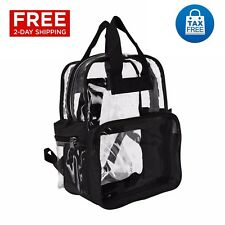 8bb58c96057786 Clear Transparent Backpack Security School Bag Smooth PVC TSA Compliant  Travel