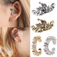 Gold Silver Ear Wrap Earring Cuff Cartilage Stud Hoop Clip Jewelry Non Piercing