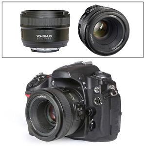 YN 50mm F/1.8 Autofocus Lens AF/MF For Nikon D810 D5500 D3400 D760 D90 D5300