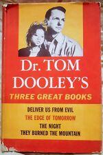 Dr. Tom Dooley's Three Great Books FIRST (1st) EDITION vintage 1961 Vietnam War