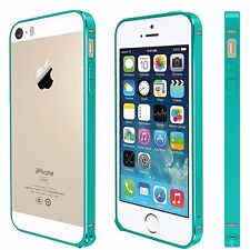 For iPhone SE,5,5S Metal Anodized Bumper Style Protective Cover Case MINT