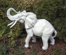 Gartenfiguren, Elefant, Steinguss, 47 cm, Skulpturen, Steinfiguren, Gartendeko
