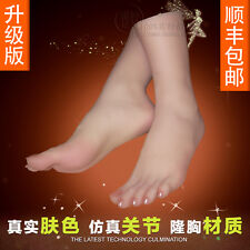 xz41 Real Pussy Clone Feet Fake Rubber Silica Gel Female Footwear Model Props