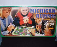 New Vintage Michigan Rummy Board Game Set Family Night Games Playing Cards Chips
