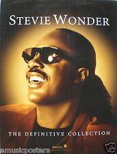 "STEVIE WONDER ""DEFINITIVE COLLECTION"" U.S. PROMO POSTER - Classic Soul R&B Music"