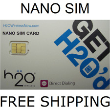 Nano Sim Cards for iPhone 5 5s 5c H2O Sim Card Wireless AT T Mobile Network