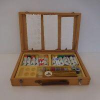 Boite coffret mallette bois peinture TEMPERA SERIE T ART MAIMERI ITALIE
