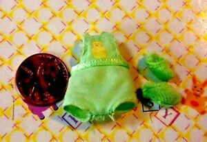 Happy Family Nikki Krissy Doll Clothes *Micro Mini Itty Bitty Romper & Booties*