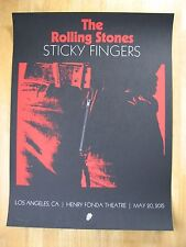 The Rolling Stones   Sticky Fingers poster   Los Angeles 2015
