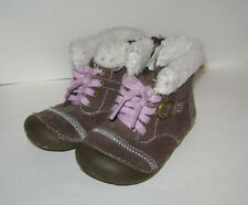 STRIDE RITE COZY CRYSTAL TODDLER GIRLS SHOES BOOTS size 5 M BROWN LEATHER CUTE
