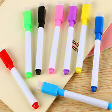 5Pcs Black Ink Whiteboard Marker 8 Colors Easy Wipe Dry Wipe With Eraser Lid Cap