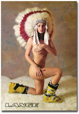 "Lange Girl Headdress Ski Fridge Magnet Size 2.5"" x 3.5"""