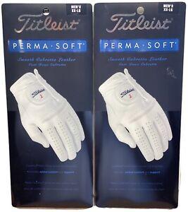 Titleist Perma Soft Leather Golf Glove 2-Pack Bundle Men's XX-Large XXL #84226