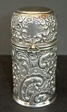 Wilcox Co. Quadruple Silverplate Repousse Floral Design PERFUME BOTTLE HOLDER