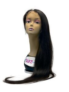 A2Z Beauty Star 100% Unprocessed Straight Human Hair Lace Front Wig Natural Hair