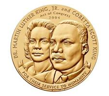 USA MEDAL BU DR.MARTIN LUTHER KING,JR 1.5 INCH BRONZE MEDAL IS AWARDED POSTHUMUS