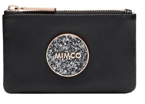 MIMCO Small Pouch BLISS Black Wallet Purse Clutch Rose Gold BNWT RRP$69.95 New