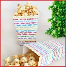 4x HAPPY BIRTHDAY Rainbow TREAT BOX Popcorn Candy Sweet Lolly Movie Favour Party