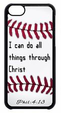 Baseball Bible Verse Quote Christian Black/White Case Cover For Apple iPod 4 5 6