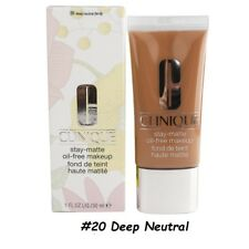 Clinique Stay-Matte Oil-free makeup 20 Deep Neutral Dry Combo to Oily ~ 1 oz NIB