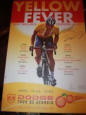 Lance Armstrong Tour De Georgia Promotion Giclee Canvas 2005 very rare Bigelow