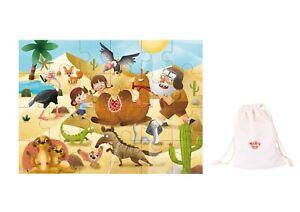Wooden Interlocking jigsaw puzzle 24 pcs ~ Desert Exploration Theme by Tooky Toy
