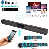 Wireless Sound Bar TV Soundbar Bluetooth Speaker Theater Stereo Subwoofer Home