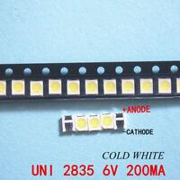 100PCS 3528 2835 1210 Light Beads High Power 1W 6V Cool white LCD TV Backlight