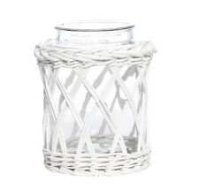 New Adelong White Willow Casting Wide Glass Jar Vase 29cm Large
