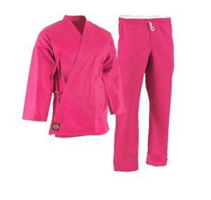 ProForce 6oz. Karate Uniform (Elastic Drawstring) - 55/45 Blend- w/ White Belt