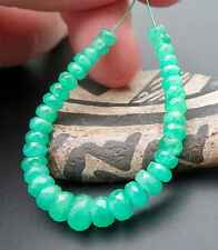 BEAUTIFUL RARE MATERIAL AA+ COLOMBIAN RICH GREEN EMERALD BEADS - NATURAL COLOR