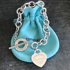 Return to Tiffany Silver Heart Tag Toggle Bracelet NEW VERSION