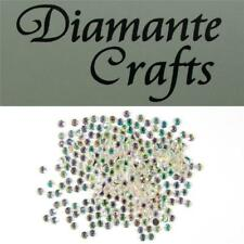 3mm Diamante Loose Flat Back Rhinestone Body Gems - Choose From 18 Colours Hot Pink