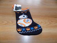 "Disney Star Wars Droid BB-8 Mini 7.5"" Christmas Holiday Stocking New"