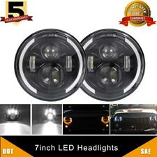 7 Inch Led Headlight Hi/Lo Beam Amber Turn Signal Halo For Chevrolet G10 C10 C20
