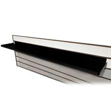 """Black Metal Slatwall Shelf, Heavy Duty Steel w/ .5"""" H Lip, 22"""" or 48"""" W x 7.5"""" D"""