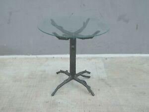 WHIMSICAL BIOMORPHIC ALUMINIUM TREE SIDE TABLE